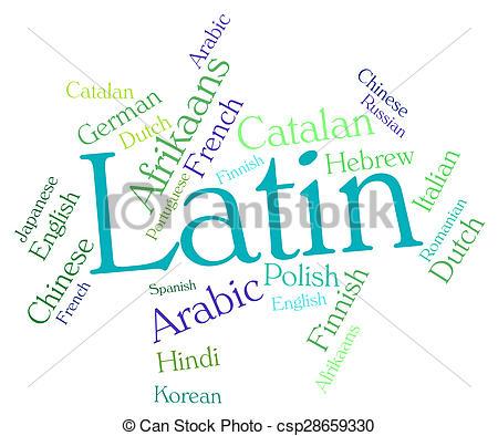 Latin clipart Latin Dialect csp28659330  Word