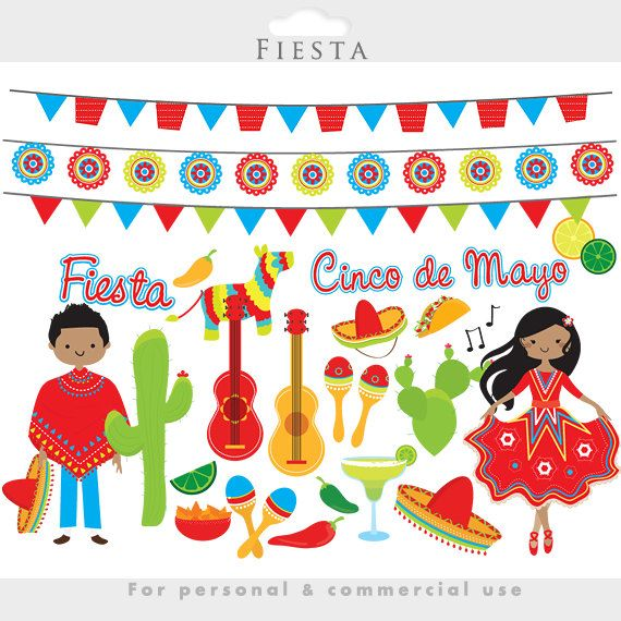 Chile clipart cinco de mayo fiesta Clipart Mexican on cactus 20+