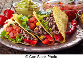 Plate clipart mexican food And Fiesta Fiesta Illustrations Food