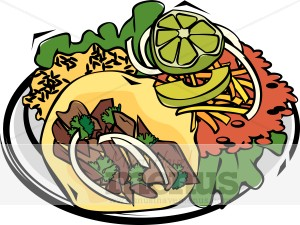 Plate clipart mexican food Watch Clipart Wrist Taco White