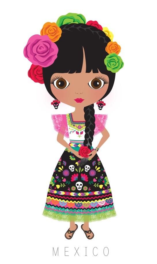 Latin clipart mexican lady MUÑECAS DEL about MUNDO mexicanos