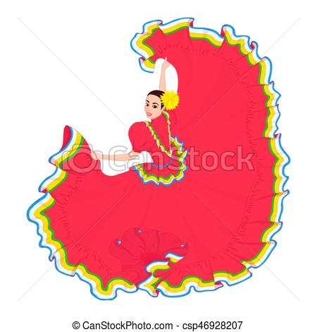 Latin clipart mexican lady In Mexican dances girl Mexican