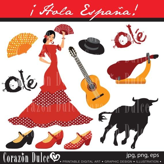 Spanish clipart spanish maraca About and Use Clip Digital