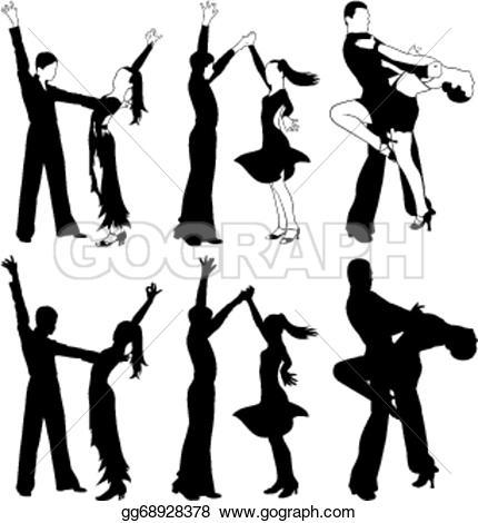 Latin clipart swing dance Ballroom dance Clip dancing latin