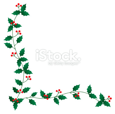 Holley clipart border Free Clip download Art Christmas