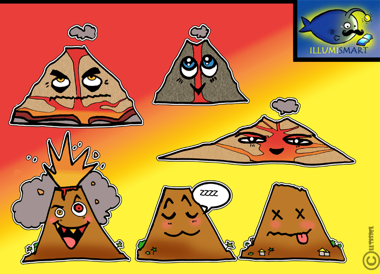 Volcano clipart face Three Style!) This varieties art