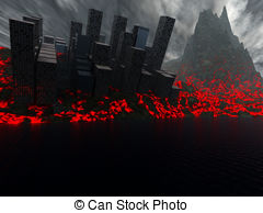 Lava clipart earthquake Destroyed A Major  city