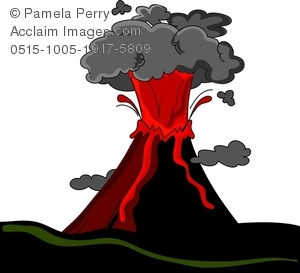 Volcano clipart high re Smoke Image Art and Volcano
