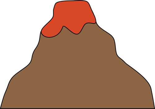 Brown clipart volcano Volcano Image Clip Volcano Art