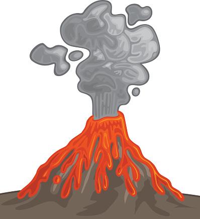 Lava clipart ash Volcano Lava Clipart ClipartFan Volcano
