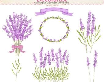 Lavender clipart Frame lavender clipart Clipart flowers