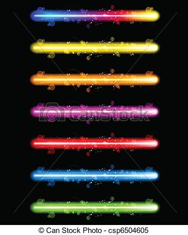 Lazer clipart  11 Vector Neon Colorful