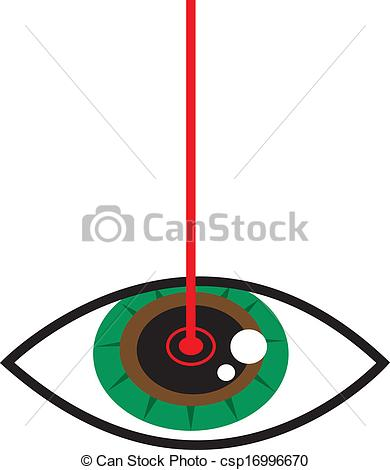 Lazer clipart Eye  on csp16996670 Eye