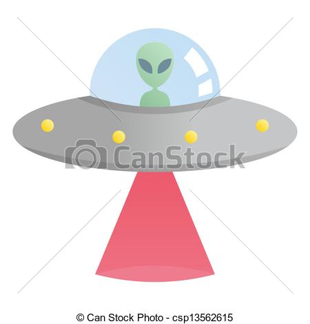 UFO clipart alien invasion Red laser csp13562615 red