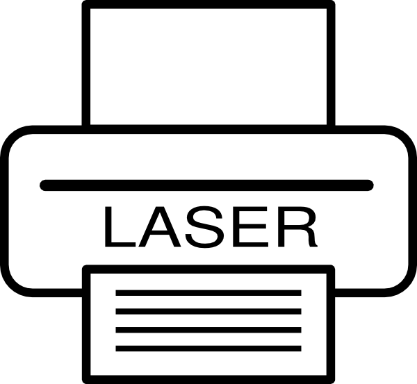 Laser clipart black and white #5