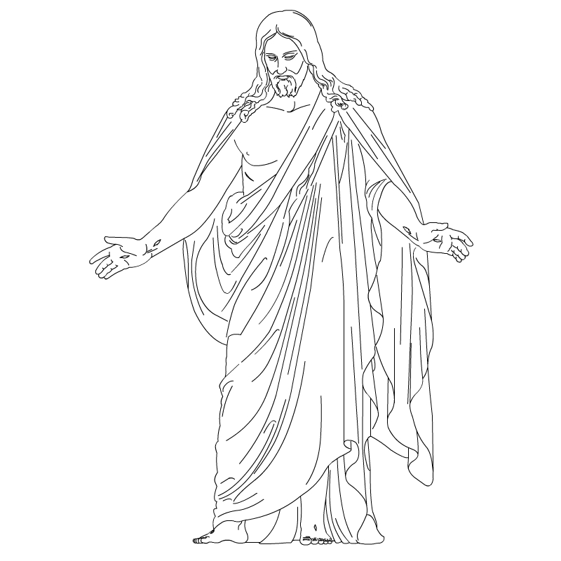 Simple clipart jesus #3