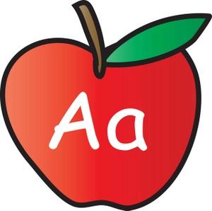 Apple clipart alphabet Clipart Stem Apple