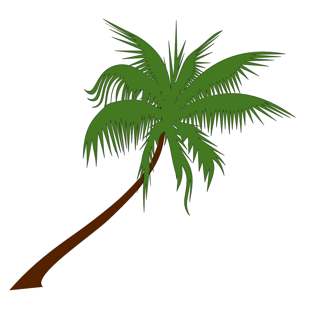Palm Tree clipart curved Tree art WikiClipArt Clip clipart
