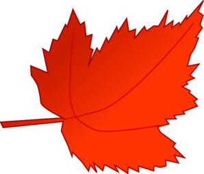 Leaves clipart colored #3