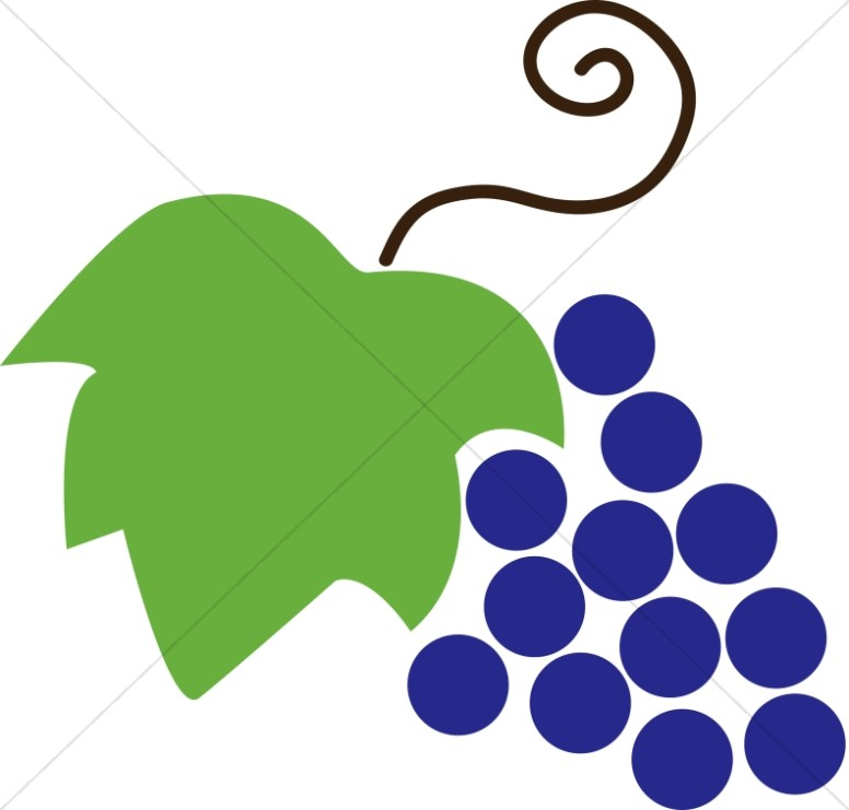 Grape clipart graphic Communion Grapes and and Leaf