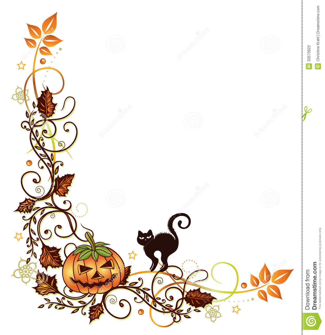 Leaves clipart halloween Panda Border Free Clipart Halloween