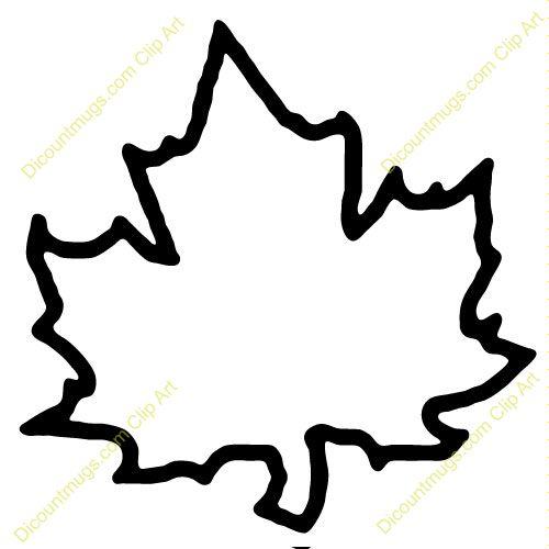 Leaves clipart leaf outline #14