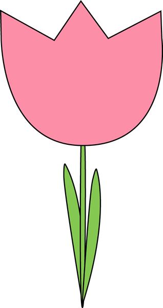 Pink Flower clipart pink tulip Large Tulip Clipart Tulip cliparts
