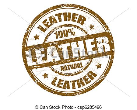 Leather clipart The of Leather stamp csp6285496
