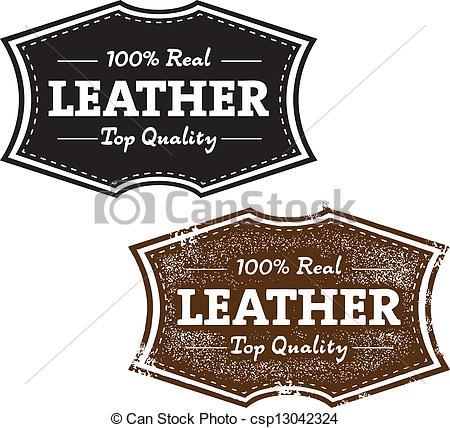 Leather clipart Art in both stamp stamp