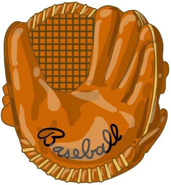 Leather clipart baseball mitt Free  Free Picture Glove