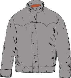 Leather clipart black jacket Jacket clip Leather Downloads SVG