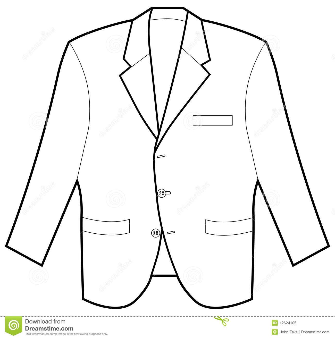 Suit clipart blazer Jacket Black White Coat And