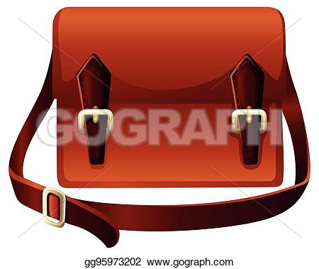 Leather clipart brown bag Made Illustration Brown Vector Brown
