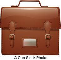 Leather clipart brown bag Bag brown brown illustration a