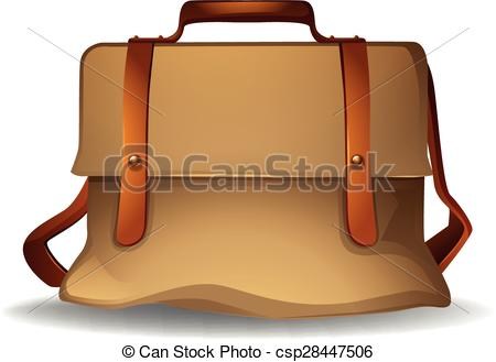 Leather clipart brown bag Design csp28447506 color  Vector