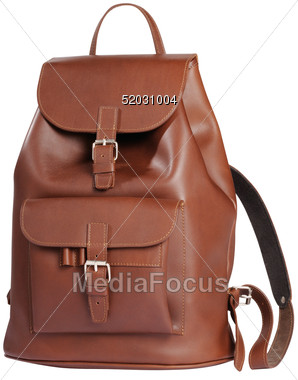 Leather clipart brown bag Image Stock Leather Photo Backpack