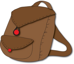 Leather clipart brown bag Image backpack Image: red Backpack