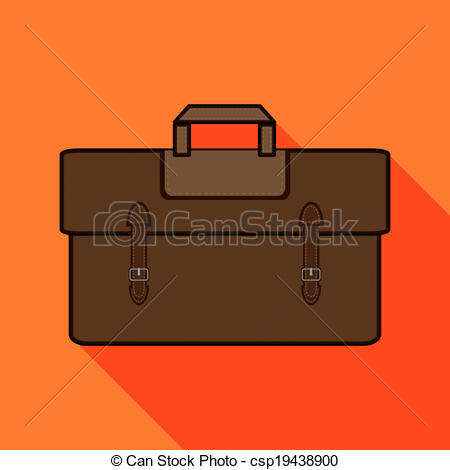 Leather clipart brown bag Leather csp19438900 leather Clipart Brown