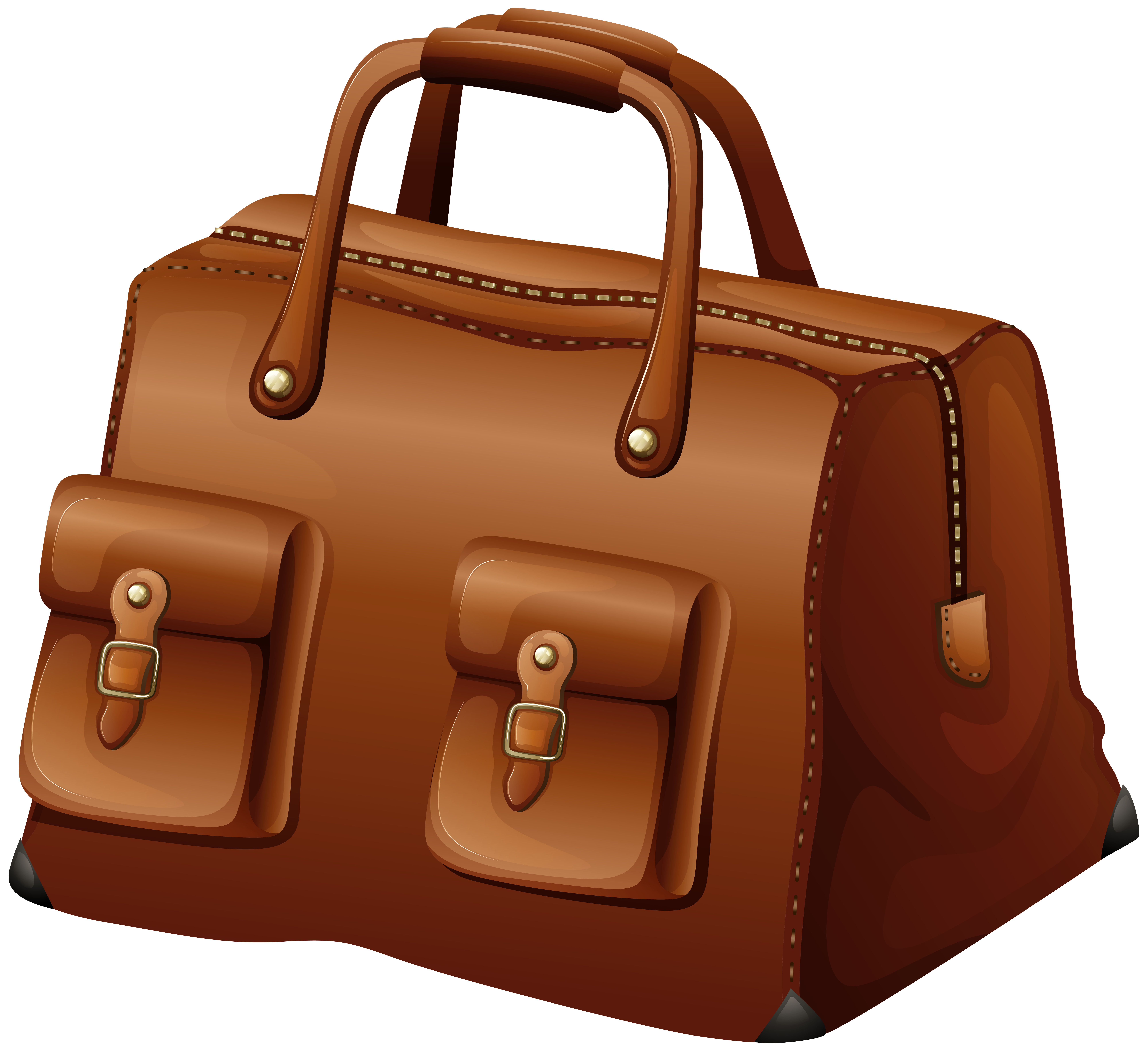 Leather clipart brown bag Image size Yopriceville Travel Clip