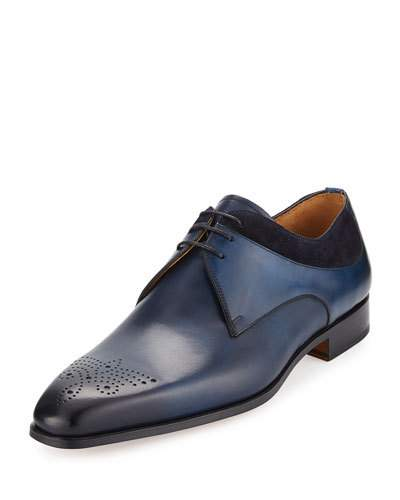 Leather clipart gents shoe : Marcus Leather Suede Navy
