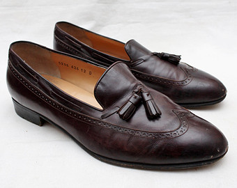 Leather clipart gents shoe 70s Vintage Etsy Loafers FERRAGAMO