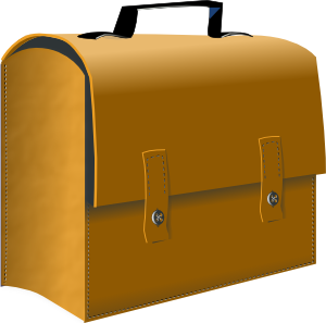 Business clipart suitcase  Art vector Clker com