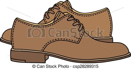 Leather clipart leather shoe Clipart classic shoes mens Hand