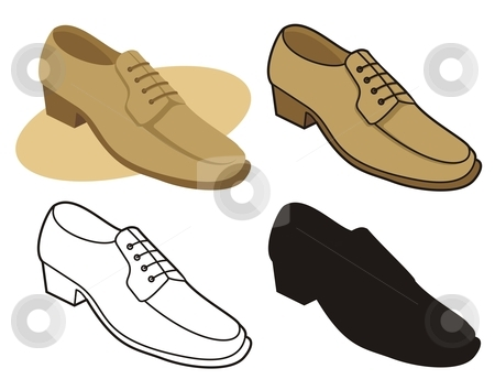Leather clipart leather shoe Vector shoe shoe Male stock