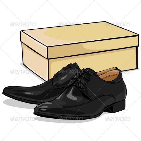 Leather clipart man shoe Men nikiteev Cartoon by Shoebox