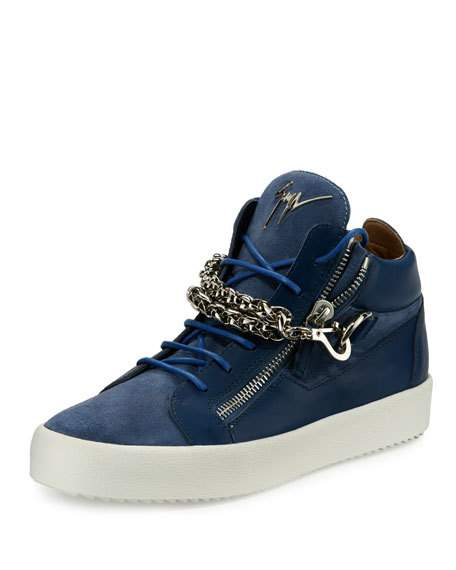 Leather clipart man shoe Suede Zanotti Sneakers Mid at