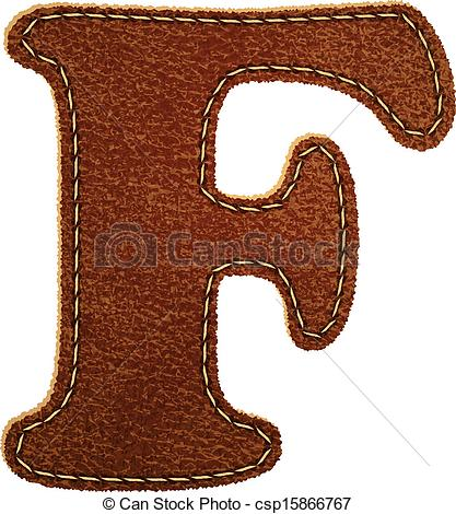 Leather Textures clipart drawing Leather textured F alphabet Clip
