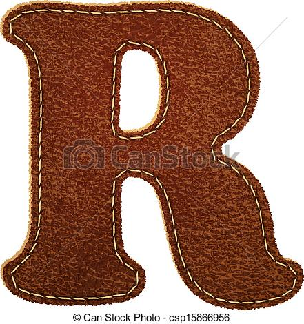 Leather Textures clipart drawing Leather textured R alphabet Clipart