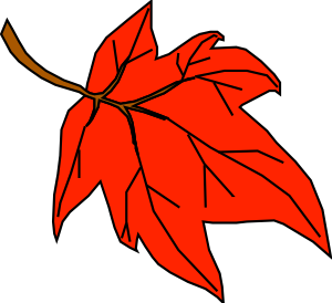 Leaves clipart colored #8
