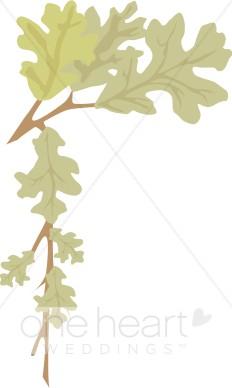 Leaves clipart corner Oak Clipart Corner Corner Leaves